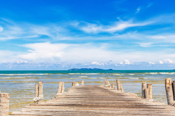 Wooden jetty at beach