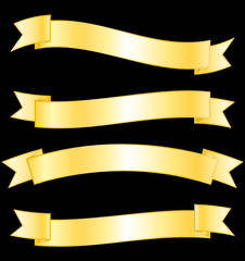 Gold ribbons set.