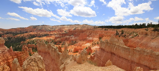 panoramique sur queen's garden trail, Bryce canyon