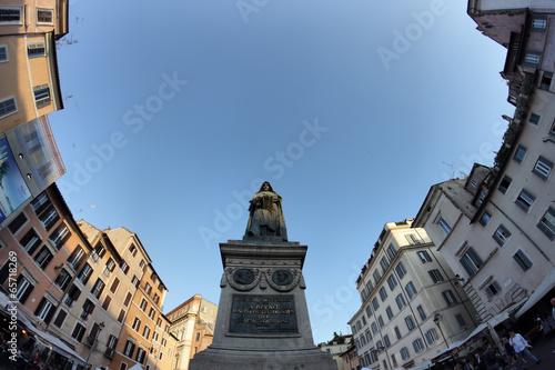 Giordano Bruno statue in Rome - 65718269