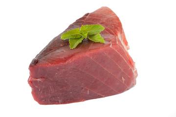 Raw tuna fish
