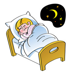 Sleep - sleeping child in the bed