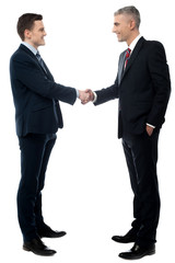 Two businessmen have an agreement