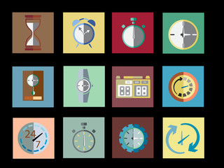 Timer Set Icon Vector Illustration