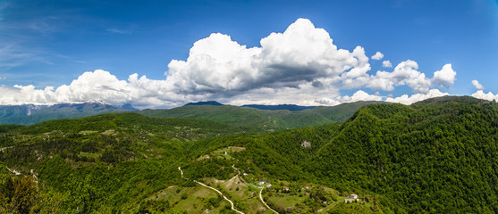 panorama of the countryside in Abkhazia