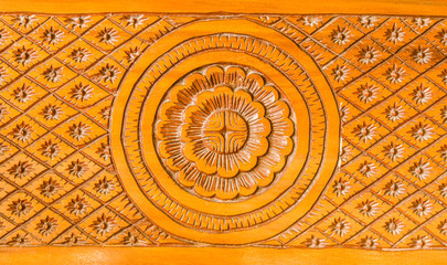 pattern of wood carved native