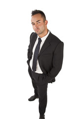 Junger attraktiver Geschäftsmann, freigestellt