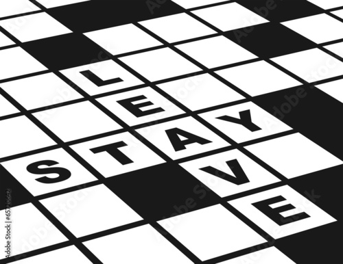 Leave or Stay Horizontal Black and White