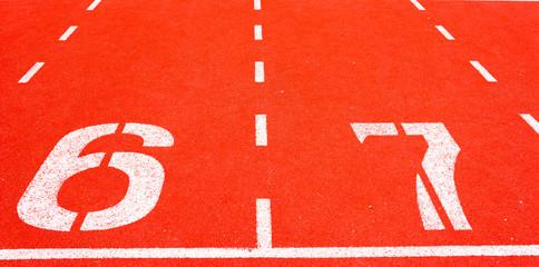 Running track 6 - 7