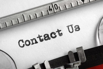 Contact Us written on typewriter