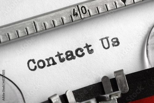 Contact Us written on typewriter