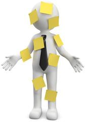 Männchen mit gelben Notizzettel
