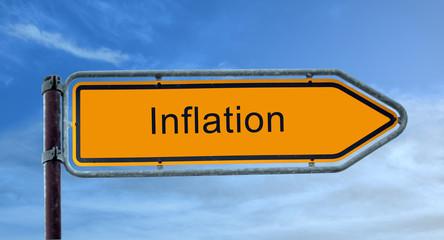 Strassenschild 8 - Inflation