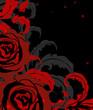 Obrazy na płótnie, fototapety, zdjęcia, fotoobrazy drukowane : Red rose on black