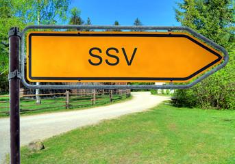 Strassenschild 3 - SSV