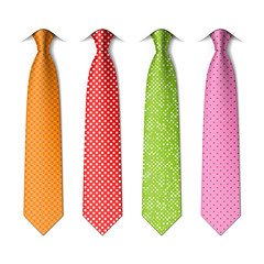 Pin, polka dots silk ties template