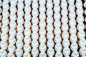 mehrere Pipetten Flaschen