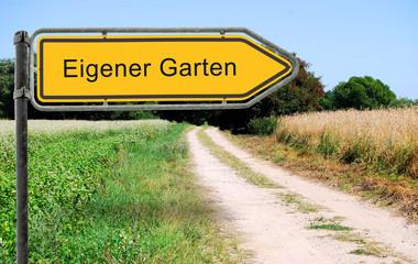 Strassenschild 21 - Eigener Garten