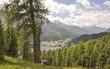 Постер, плакат: St Moritz See Corviglia Alpen Sommer Graub