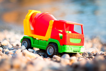 Truck at the seaside