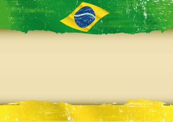 brazilian flag parchment