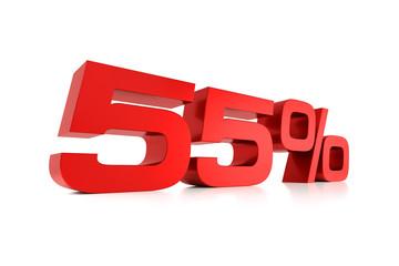 Serie Prozente - 55 Prozent