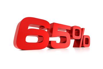 Serie Prozente - 65 Prozent