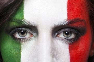 Italian supporter for FIFA 2014 closeup