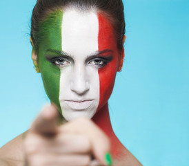 Italian supporter for FIFA 2014 pointing out