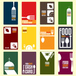 Food court cash card. Menu card. Vector illustration - 65723838