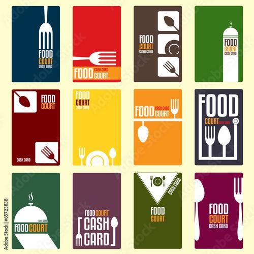 Food court cash card. Menu card. Vector illustration - 65723838