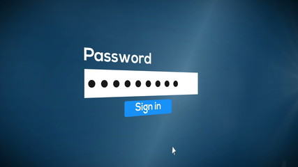 sign in password to system