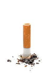 Cigarette butt unhealthy life style concept