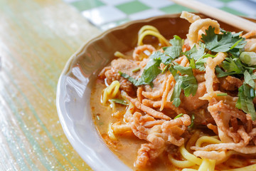 Northern Thai Noodle Curry Soup - Khao Soi
