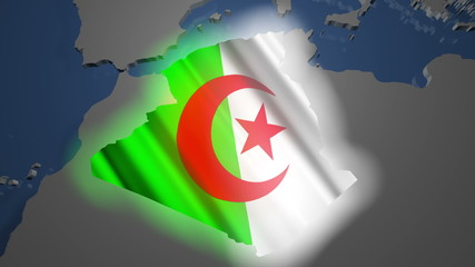 Algeria Earth Zoom