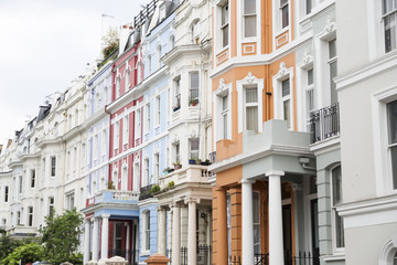 Notting Hill colorful houses