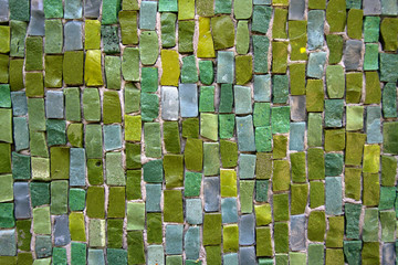 motley mosaic background in green tones