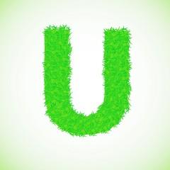grass letter U