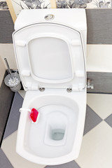 Interior of a typical water-closet.