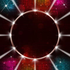 Disco Music Ring with Spotlights