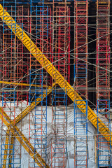 Industrial construction scaffolding