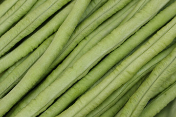 close up of long bean, as background