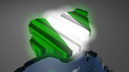 Nigeria Earth Zoom In