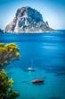 Leinwandbild Motiv Cala d'Hort, Ibiza (Spain)