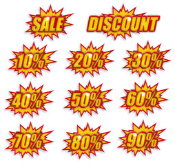 discount label set