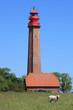 Leinwanddruck Bild - Flügger Leuchtturm, Fehmarn