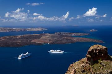 Blick auf Nisida Nea Kameni - Insel Santorin