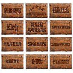menu entries