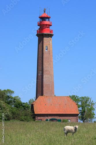 Leinwanddruck Bild Flügger Leuchtturm, Fehmarn