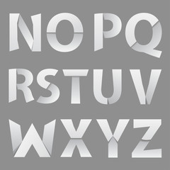 Abstract Paper Font Letter 2